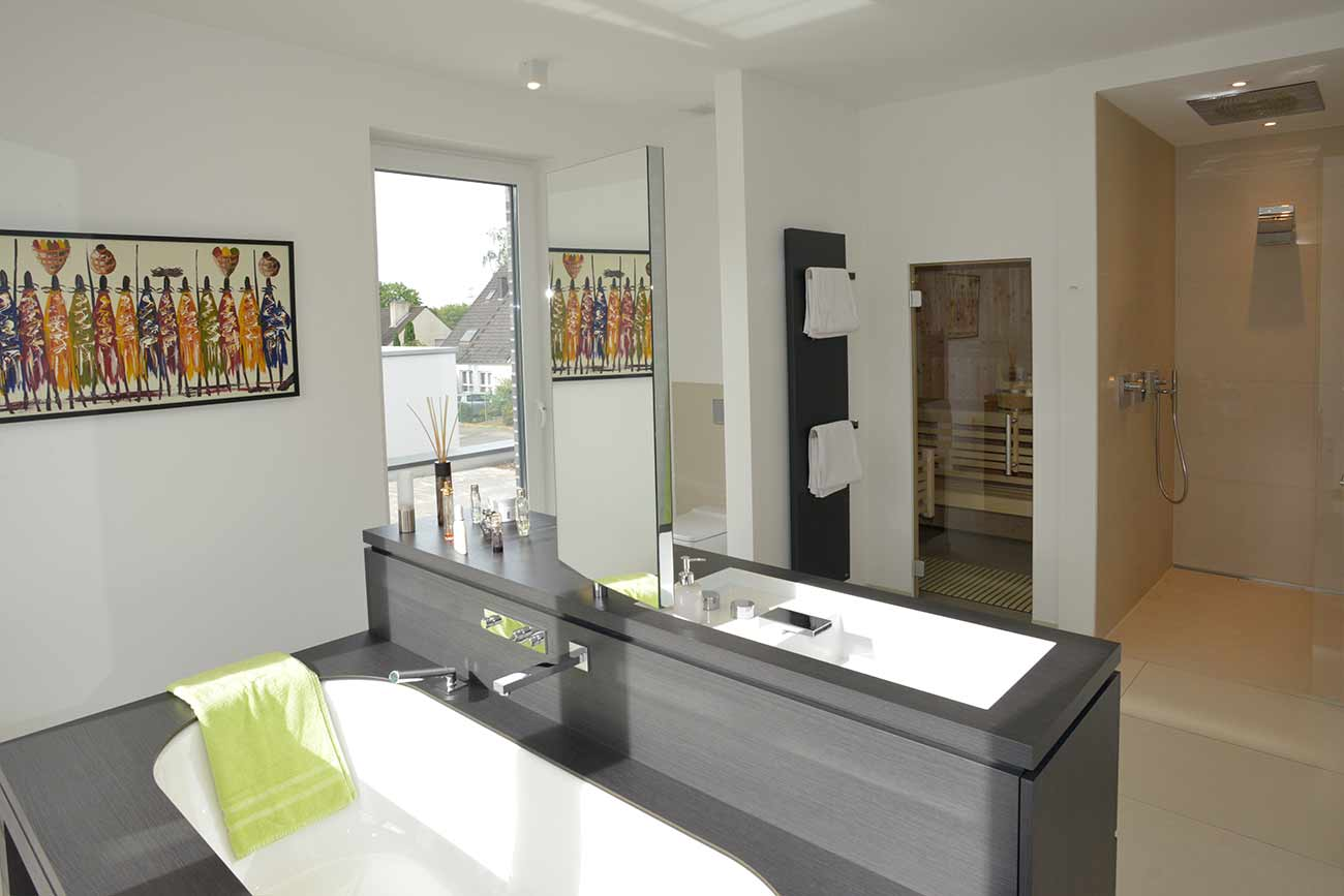 Referenzen Projekte Badezimmer mit Sauna